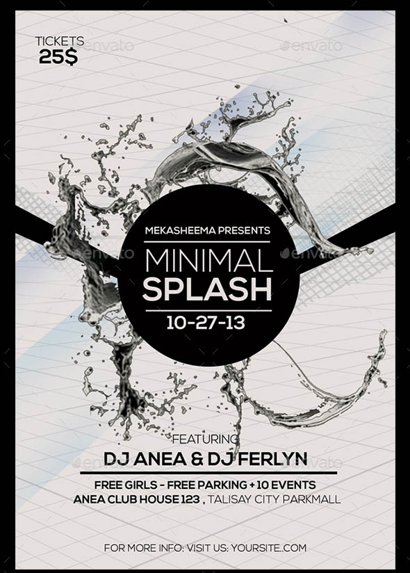 Minimal Splash Flyer