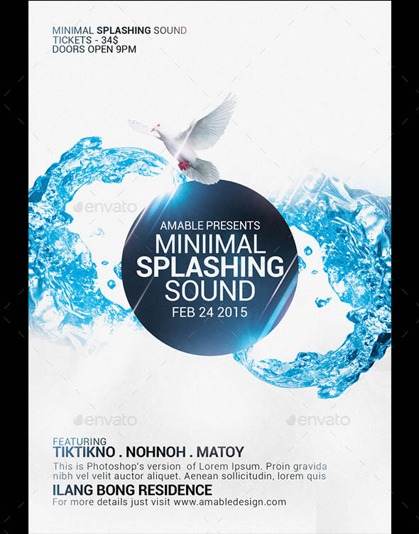 Minimal Splashing Sound Flyer