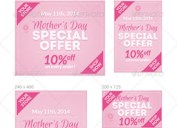Mothers Day Ad Banners