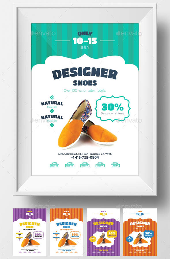 34 cool shoes flyer templates desiznworld