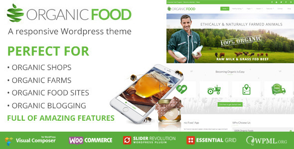 Organic Food Responsive WordPress Theme