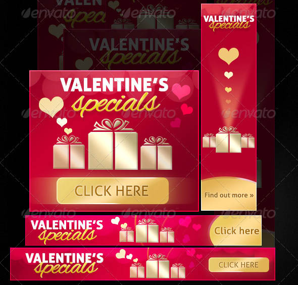 Premium Valentines Day Web Banners