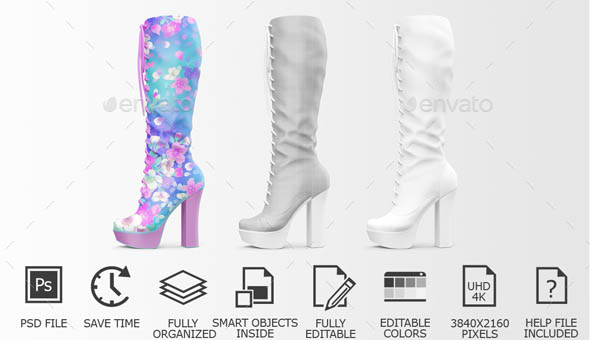Shoes Mockup Woman Shoes Mockup Edition