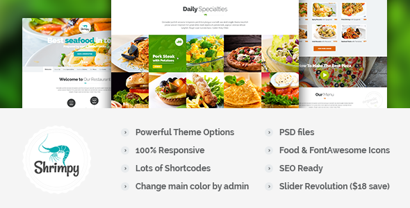 Shrimpy - Responsive Restaurant WordPress Theme