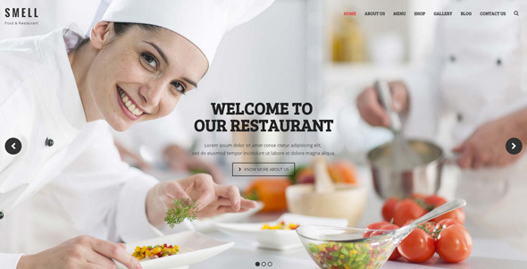Smell Food Restaurant Multipurpose WordPress Theme