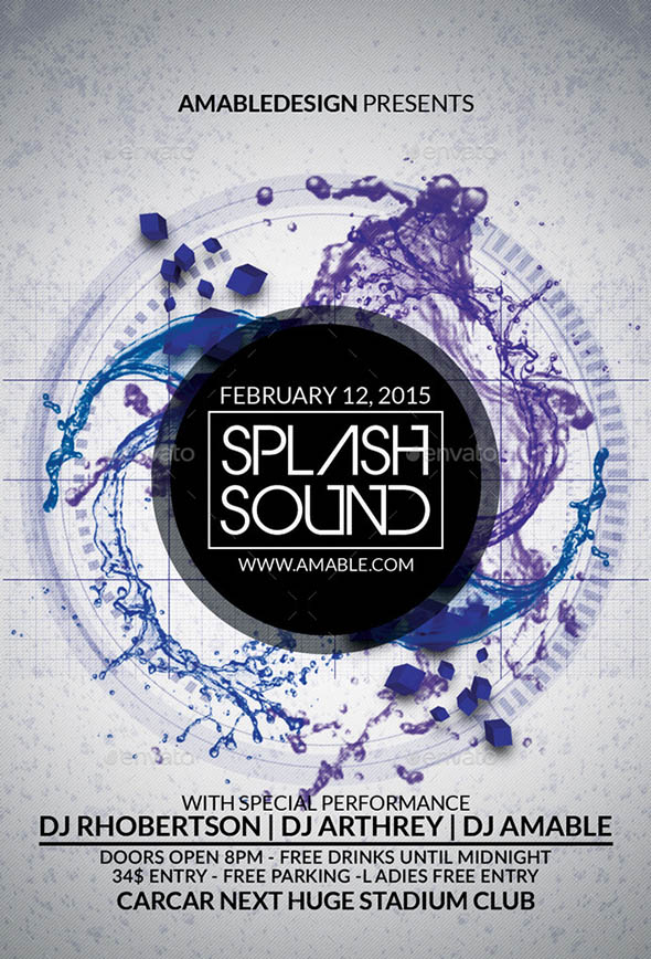 Splash Sound Flyer