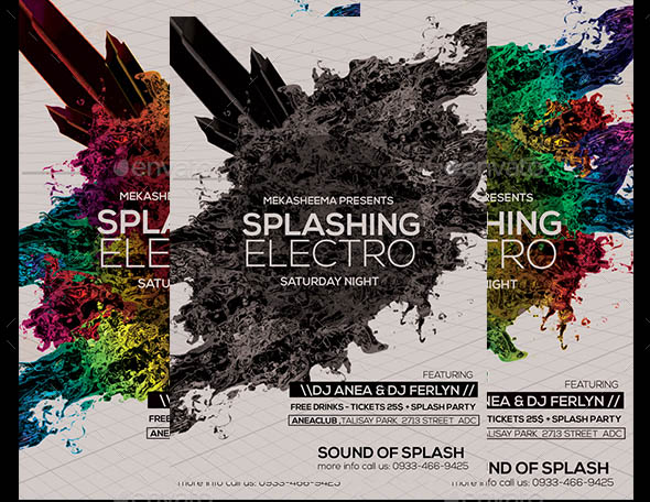 Splashing Electro Flyer