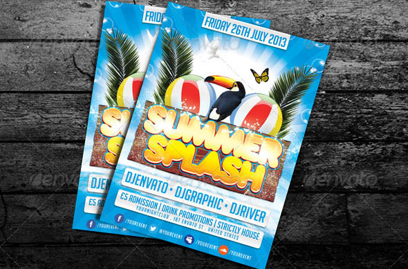Summer Splash Club Flyer