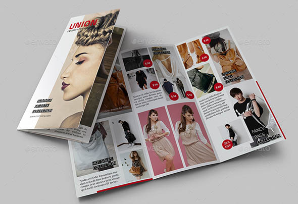 Trifold Brochure Templates For InDesign Desiznworld - Fashion brochure templates