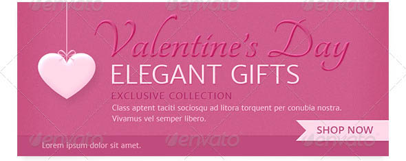 Valentine Day Gifts Promotion Web Banners