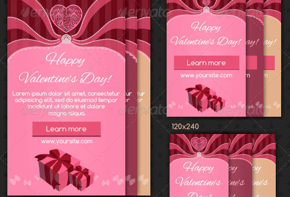 Valentines Day Web Ad Banners 2