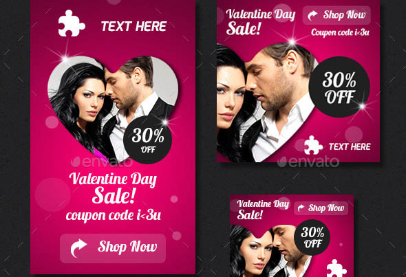 Valentines Day Web Ad Banners