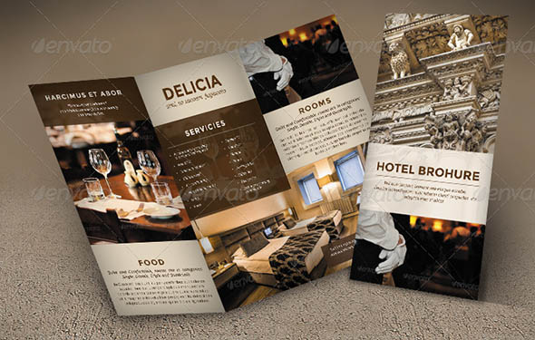 Cool Hotel Brochure Templates Desiznworld - Elegant brochure templates
