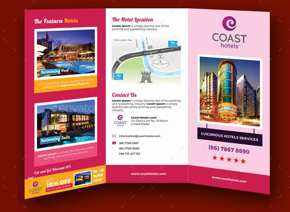 20 Cool Hotel Brochure Templates Desiznworld – Hotel Brochure Template