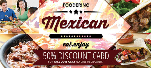 Mexican Restaurant Promotion Gift Vouchers