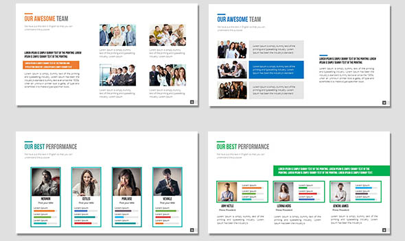 12 nice powerpoint templates for annual report – desiznworld, Annual Report Powerpoint Presentation Template, Presentation templates
