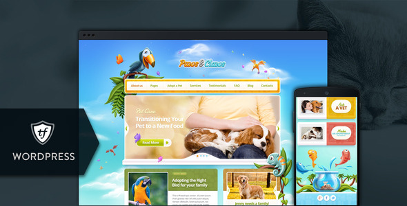 Paws Claws Pet WordPress Theme