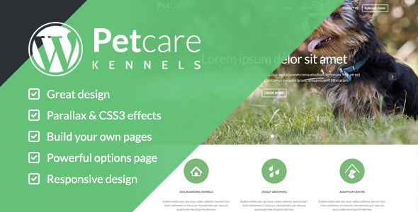 PetCare Dog Kennels WordPress Theme