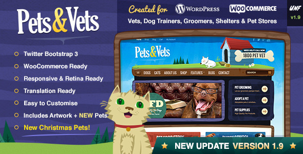 Pets Vets WordPress WooCommerce
