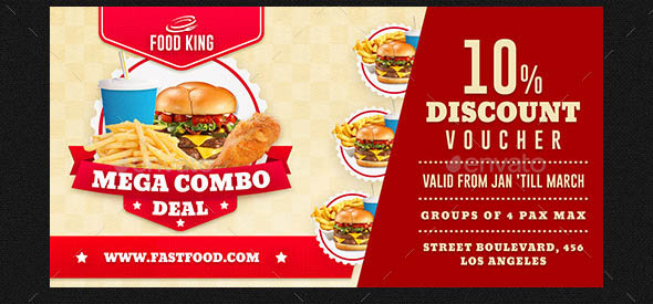 Restaurant Fast Food Discount Voucher