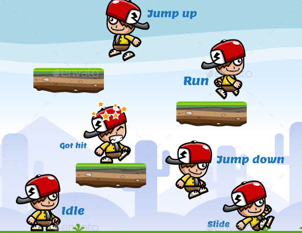 Running and Jumping Swag Boy