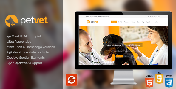 Vet Pet Responsive WordPress Theme