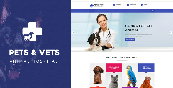 Veterinary Hospital Business WordPress Theme