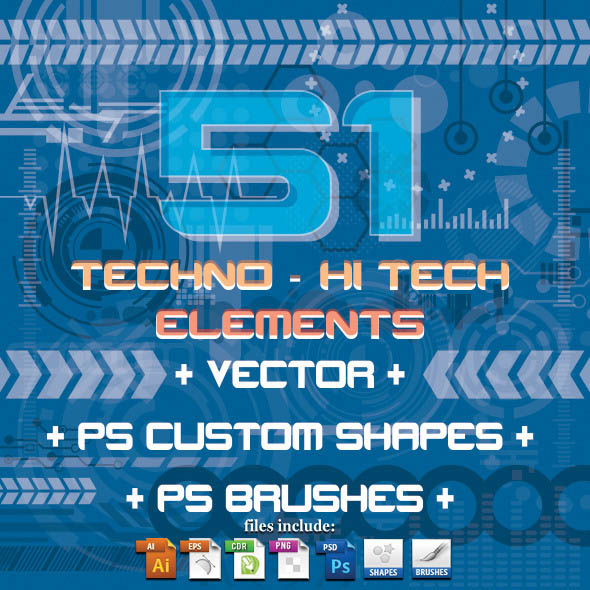 51 Techno Hi Tech Elements