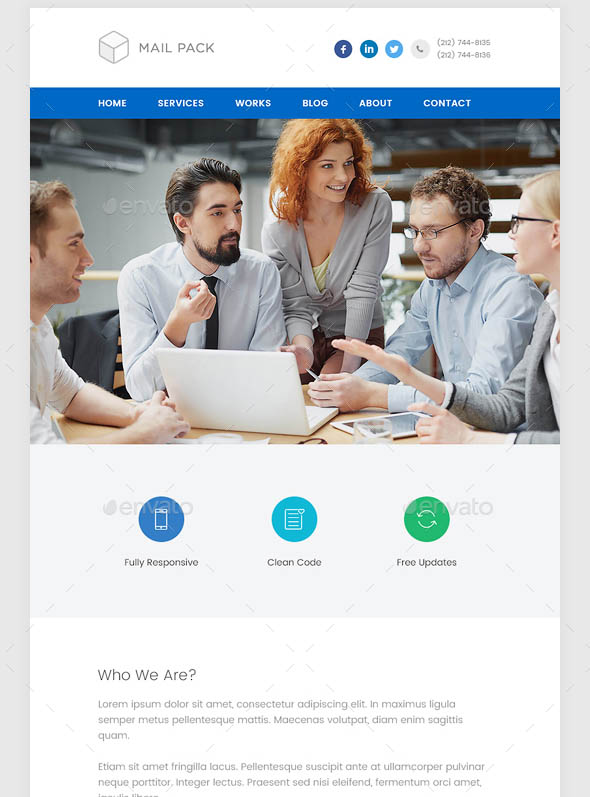 Business Email Template PSD