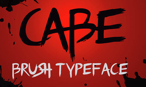 Cabe brush typeface