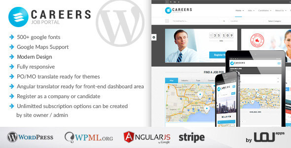Careers Job Portal Candidates WP Theme