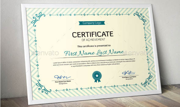 Corporate Certificate Template. Company Stock Certificate