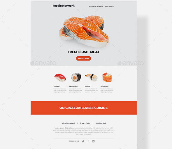 Food Email Template