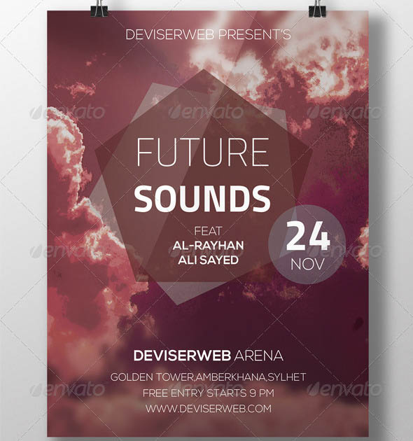 Futuristic Party Flyer