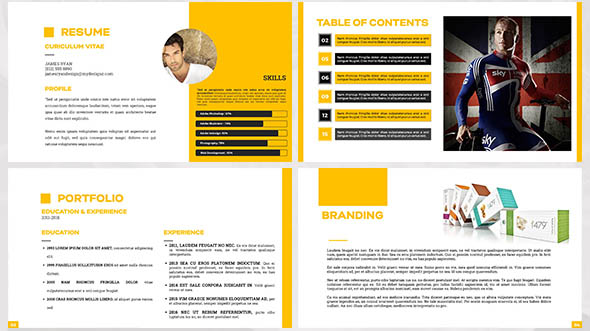 38 cool portfolio powerpoint templates desiznworld graphic design portfolio template maxwellsz
