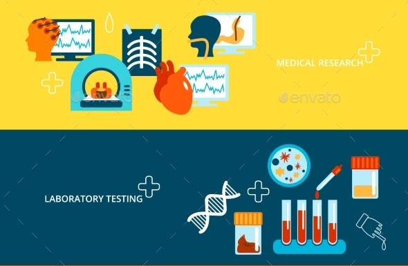 Medical Tests Banner Set