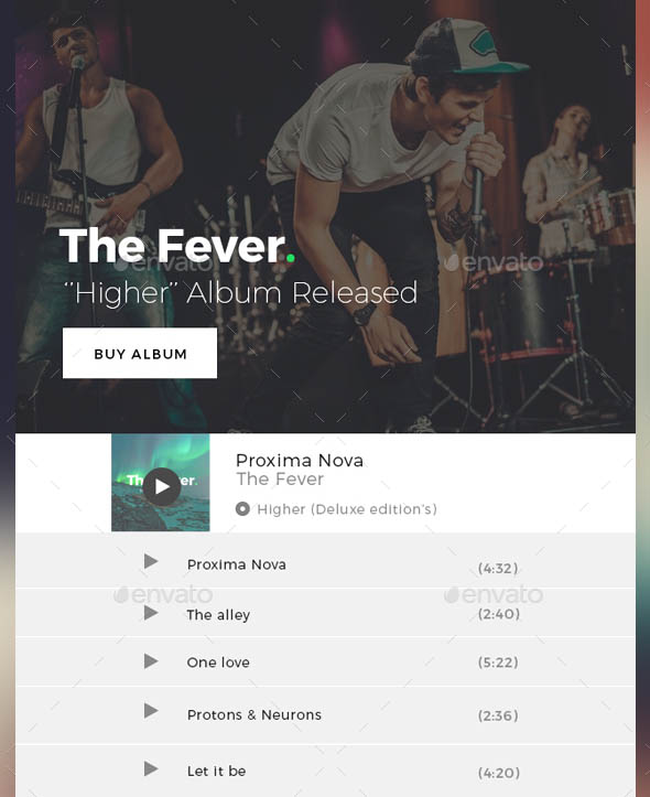 Music Email Templates Fever
