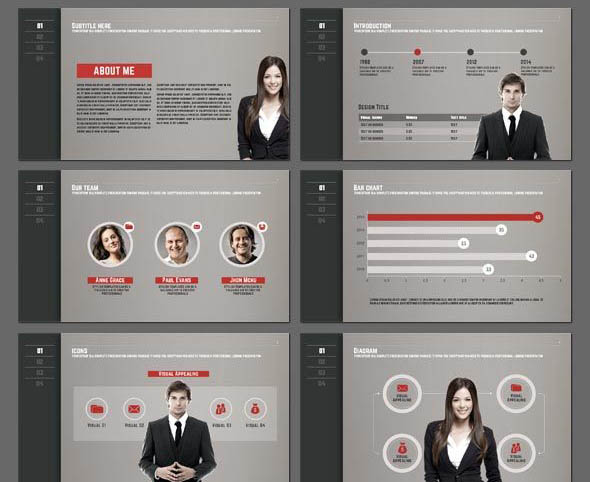 18 cool portfolio powerpoint templates  u2013 desiznworld