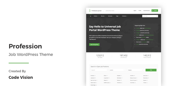 Profession Job WordPress Theme