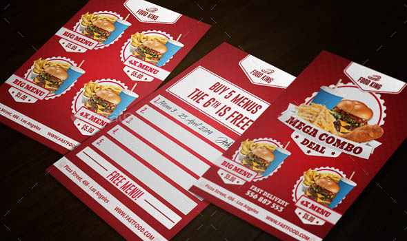 19 nice food business related business card templates