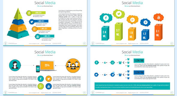 20 cool social media powerpoint templates – desiznworld, Presentation templates