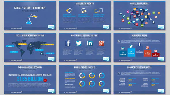38 cool social media powerpoint templates desiznworld