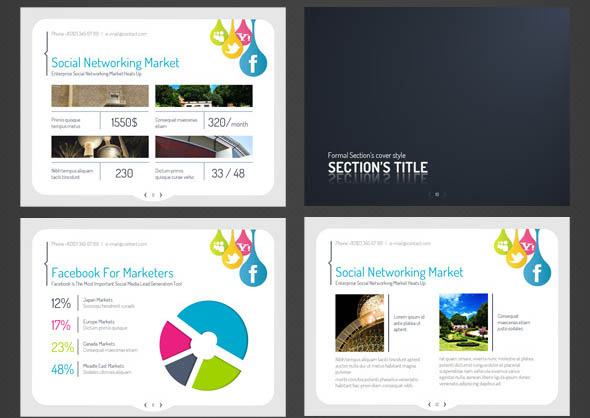 Social-media PowerPoint Presentation Template