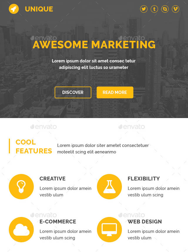 37 cool email newsletter design templates  u2013 desiznworld
