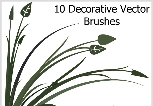 10 Decorative Vector Brushes