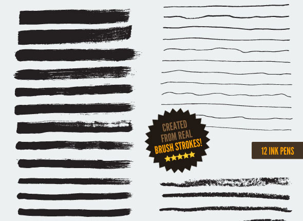 168 Vector Art Brushes Bundle