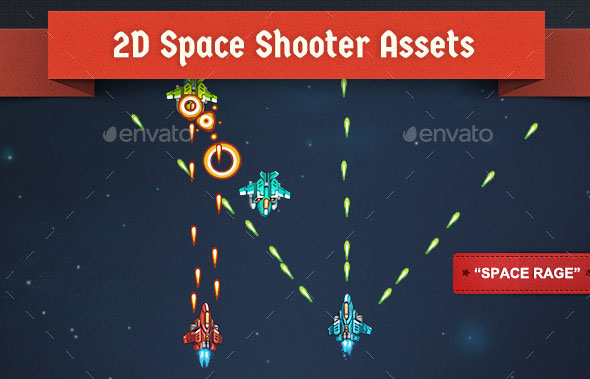 2D Animated Space Shooter Assets Space Rage