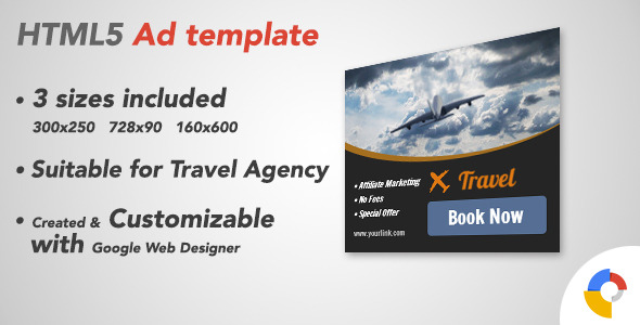 Ad HTML5 Template Traveling