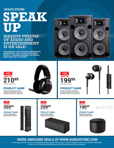 Audio Sales Flyer