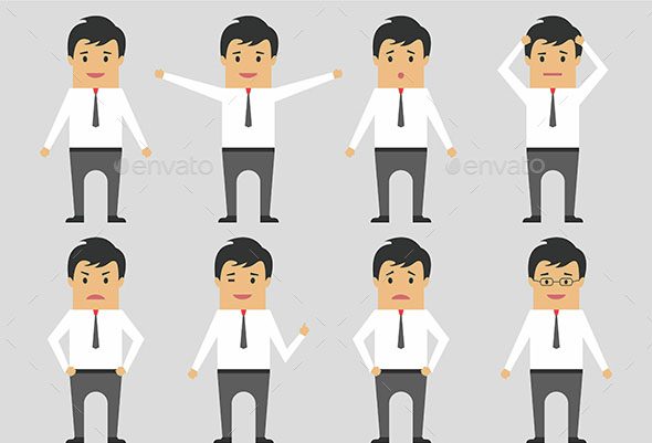 Businessman Character Emotion